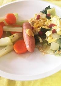 ゴーヤの卵炒め 朝ごはん