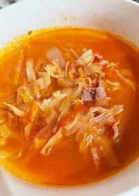 トマトとキャベツの燃焼スープもどき