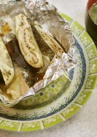 ✨鱈と茄子のホイル焼き&ほうれん草味噌汁