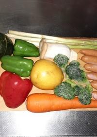 余った野菜をきっちり消費するカレー粉炒め