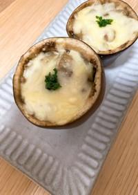 米ナスの肉味噌チーズ焼き