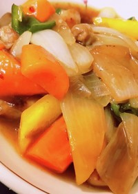揚げない♬。.鶏と野菜の黒酢炒め