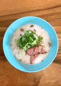 発酵ライスミルクで作るオートミール粥
