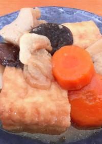 ニンニクと胡麻油風味♡厚揚げの味噌味煮物