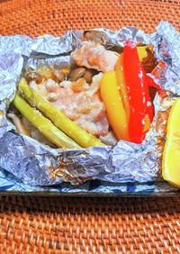 豚肉と野菜のホイル焼き