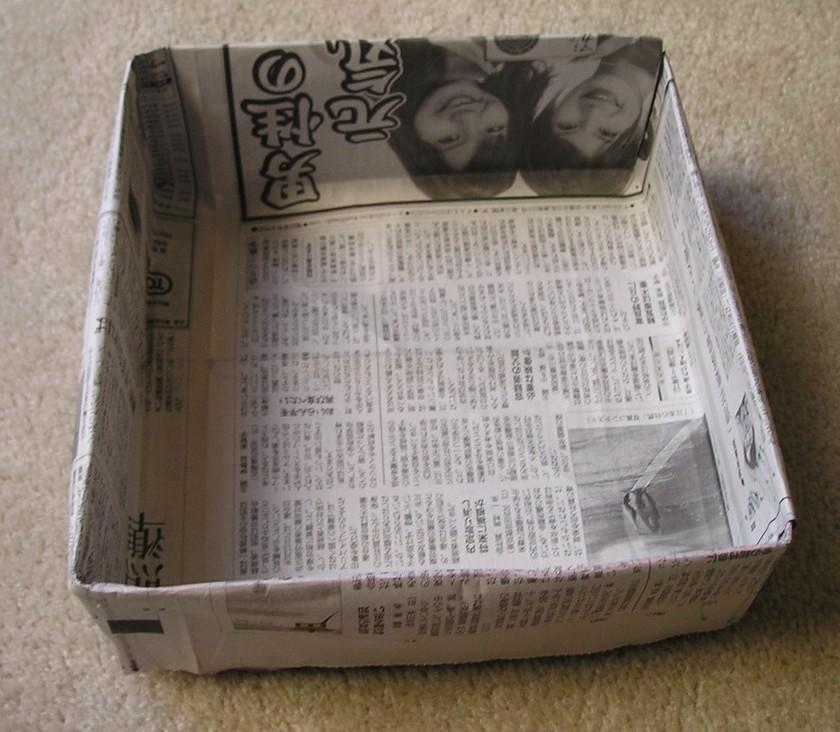 カステラの新聞型の作り方とカステラレシピ