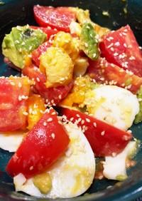 おつまみに トマトアボガドゆで玉子ナムル
