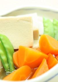 高野豆腐の含め煮(煮物つゆ黄金比)