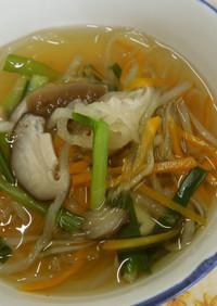 いつでも手軽に♪具だくさん春雨スープ