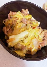 豚肉とキャベツの豆板醤炒め
