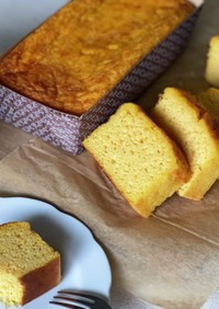 おからと米粉の にんじんパウンドケーキ
