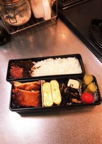 冷凍照り焼チキンと常備菜のお弁当