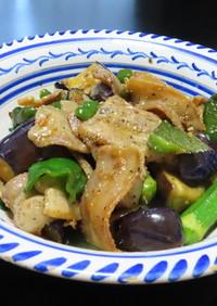 豚バラ肉と茄子の味噌炒め☆+夏野菜で美味