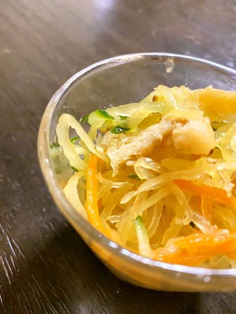 金糸瓜の酢の物/七尾市学校給食