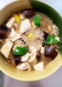 豚こまピリ辛梅ポン炒め味和風麻婆豆腐茄子