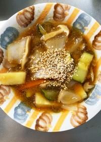 根菜酢醤油炒め味温野菜サラダ