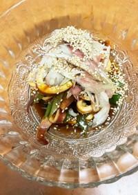 簡単・みょうがを使ったイカとネギの酢味噌