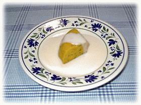 かぼちゃのレアチーズケーキ?