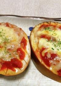 白なすのピザ風 トマトチーズ焼き!