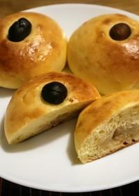 秋の白あんパン