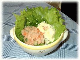 2色のポテトサラダ
