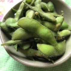 我が家の枝豆の茹で方