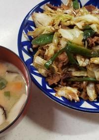 回鍋肉 (ホイコーロー) & 味噌汁