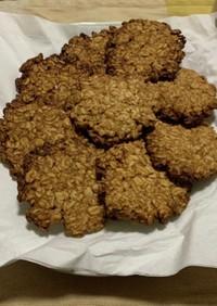 オートミールとピーナツバターのクッキー
