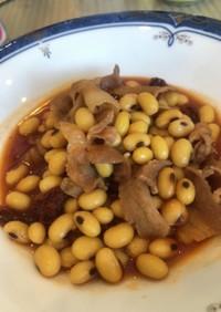 大豆 豚バラ肉 ケチャップ煮