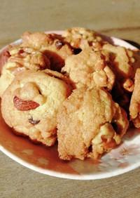 チョコとナッツのサクサククッキー