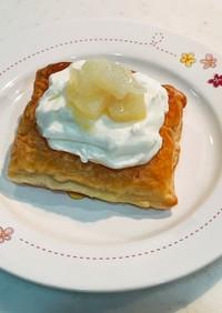 簡単!洋梨の水切りヨーグルトクリームパイ