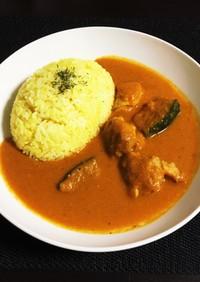 カボチャと鶏肉のインド風カレー