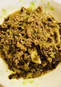 【簡単】合い挽き肉とナスのハーブ炒め