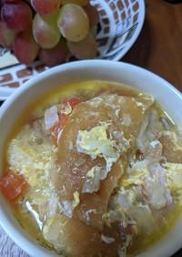 フランスパン入りガーリックスープ