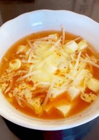 キムチで簡単!Wチーズの純豆腐風
