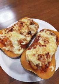 バターナッツカボチャのミートグラタン