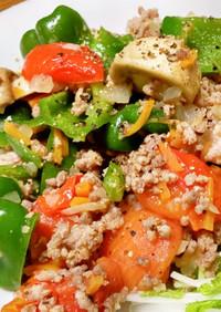 ピーマン肉詰めが面倒w合いびき肉と野菜炒