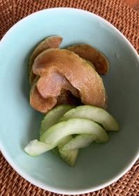 みりん粕を使った奈良漬※写真は醤油麹漬け