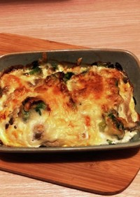 ブロッコリーとしめじの卵マヨチーズ焼き