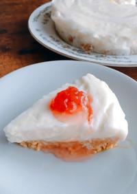甘酒のレアチーズ風ヨーグルトケーキ
