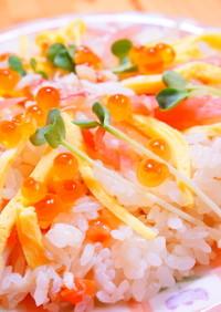 すし太郎で毛ガニのちらし寿司