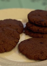 米粉と大豆粉のココアチョコチップクッキー