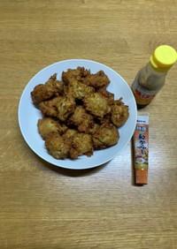 キノコと鶏ひき肉の落とし揚げ2021