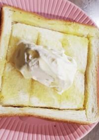 にんにくや風★☆蜂蜜アイス♪トースト★☆