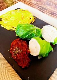 ロール白菜のコンソメ煮 ボロネーゼソース