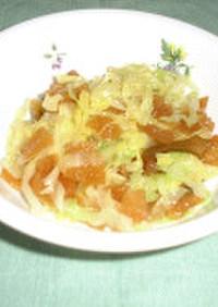 キャベツと福神漬のサラダ#豊明市学校給食