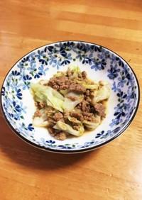 豚ひき肉とキャベツの味噌炒め