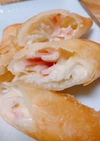 エノキとハムのチーズ春巻き