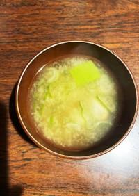 里芋と長ネギの神楽南蛮味噌汁
