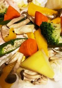 鶏ムネと野菜のグリル焼き